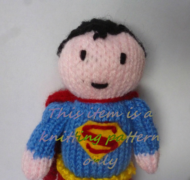 Knitting Pattern Superman Doll : PDF knitting pattern: Superman
