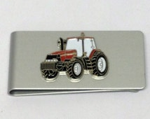 Case International Red Tractor Money Clip Tractor/Farming Gift