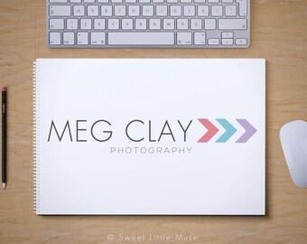 Modern Arrow Logo Design - photography logo - premade photography logo