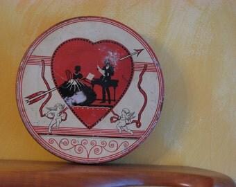 Valentines Round Candy Tin