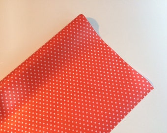 Red Polka Dot Tissue Paper 18 inches x 140 inches, Polka Dot Tissue Paper, Red Tissue Paper, Valentine's Day Wrap, 4th of July Wrap, Tissue