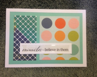 inspirational notecard--miracles