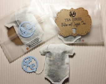 Baby bodysuit shaped Tea Bag