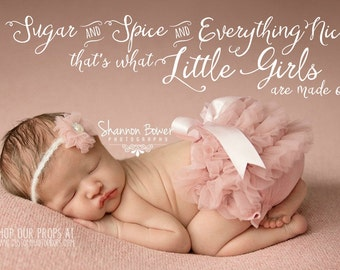 Word Overlay - Girl Phrase Photo Overlay - Text Photo Overlay - Girl Quote Baby Newborn Child Photo Words Phrase PNG -INSTANT DOWNLOAD