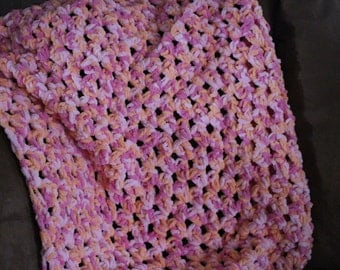 Soft Chunky Crocheted Baby Blanket