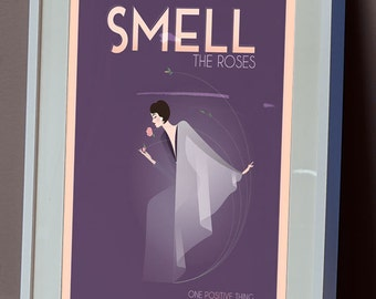 One Positive Thing: SMELL Illustration Poster -Buddy Bravo
