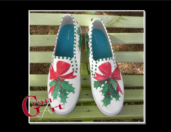 Christmas Shoes Christmas Canvas Shoes Holiday Shoes by ...