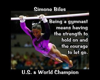 gymnastics poster simone biles gymnast champion photo