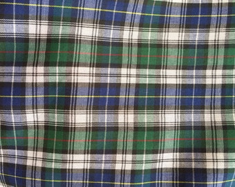 Blue and Green Plaid  - 100% Cotton