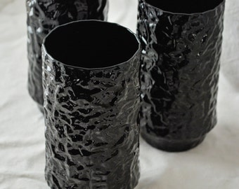 Lenox Black Crystal-Hand Blown-Cups