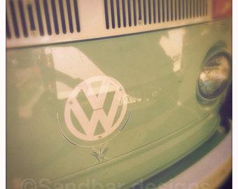 4 x 4 photo card-Cardamon VW bus