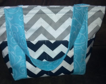 Custom made medium size diaper tote bag