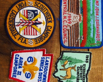 Vintage Boy Scout Patches - 1960's Scout Patches - Florida North Carolina BSA Patches