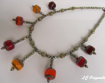 FUNNY LAMPWORK WIRED necklace