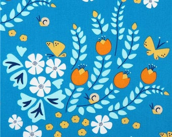 Meadow Blossom Blue Fabric