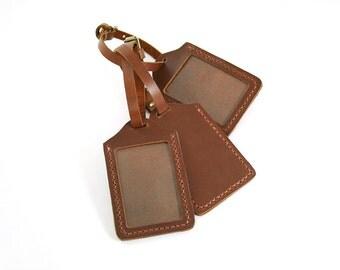 Custom Luggage Tag, Leather Luggage Tag, Leather ID Holder, Leather Badge Holder, Monogram Luggage Tag,Personalized Luggage Tag,Card Holder