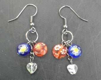 Glass Blown Bead Earrings