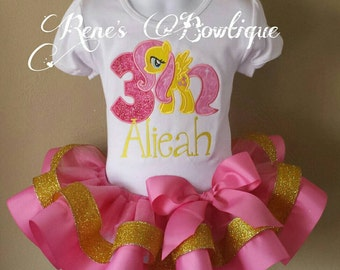 Fluttershy My Little Pony Ribbon Tutu Set