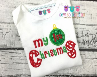 Baby first Christmas Outfit - Baby Christmas Outfit - First Christmas Outfit - First Christmas outfit