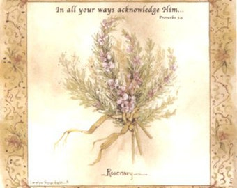 Rosemary Ceramic Decal - In all your ways acknowledge Him  Ready to be Kiln Fired