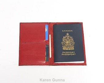 Leather Travel Passport Holder, Personalized Passport Case