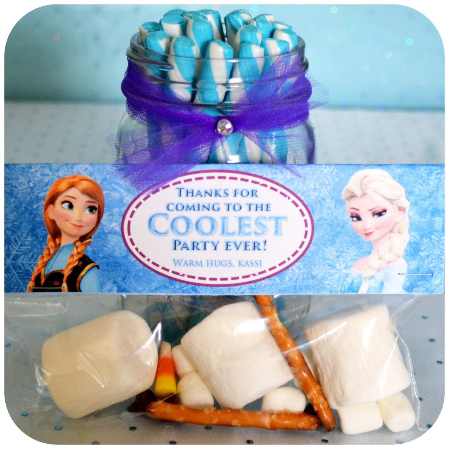 Disney Frozen Birthday Party Favor Bag Toppers By