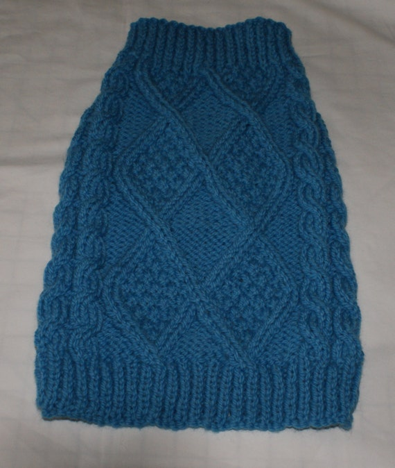 Hand Knitted Aran Dog Sweaters Dog Jumpers. Hand knitted in