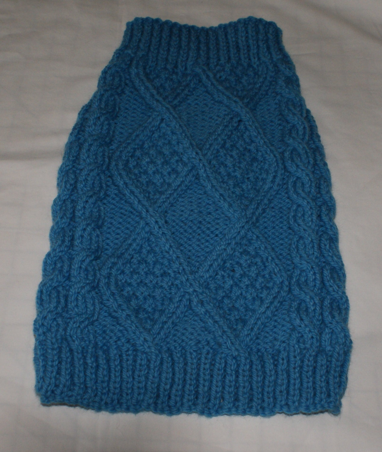 Knitting Dog Clothes : Hand knitted aran dog sweaters jumpers in