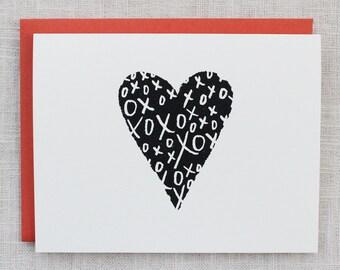 XOXO Pattern Screen Printed Card