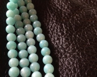 SOLD! Amazonite Necklace Sterling Silver Chalcedony Clasp