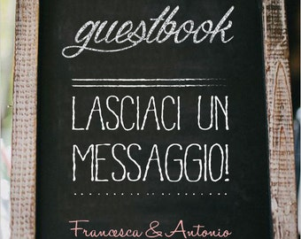 Chalkboard print for guestbook