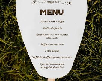 Fan wedding menu