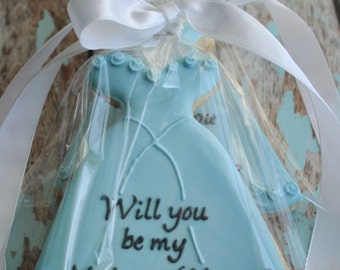 Will You Be My Bridesmaid Dress SUGAR COOKIE Favor Gift