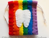 Rainbow Striped Tooth Fairy Pouch Hand Sewn You Pick The Colors 2 3 Or 6 Colors