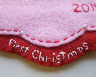 "Personalized ""First Christmas"" Message Add-on for Personalized Ornaments"