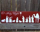 Christmas Decor Holiday Decor Mantle Decor Christmas Mantle Christmas Decoration Nativity Scene Christmas Sign Holiday Decoration Wood Sign