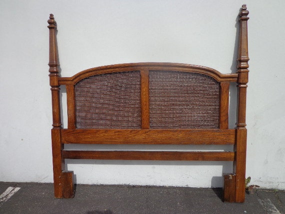 Classic Post Poster Queen Full Headboard Cane Wood French