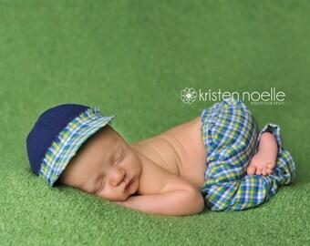 Newborn boy set, Newborn boy baseball cap , newborn boy pant, newborn boy  Baby Pant Set, newborn photo prop