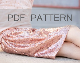 Girl Skirt PDF, skirt pattern, elastic skirt PDF, easy sewing pattern, gathered skirt PDF, skirt download, tween skirt pattern, size 3-14