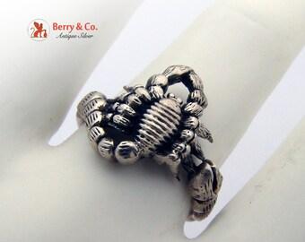 Scorpio Ring Sterling Silver