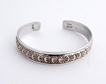 Cuff Bracelet Gold Filled Sterling Silver