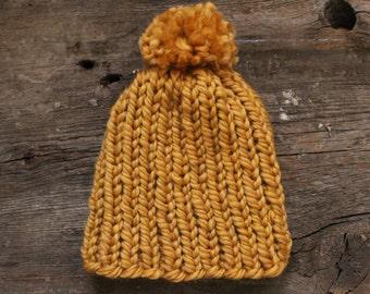 SALE, Baby Hat with Pom Pom
