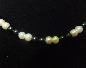Black and Ivory Pearl Necklace