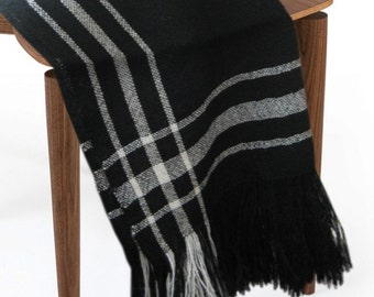 Wool Throw Blanket, Soft Silky and Luxurious Sweeney Todd Throw, All Natural, No Synthetics