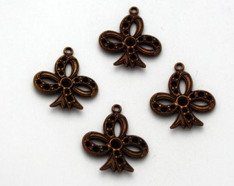 4 Vintage Brass Club Charms - Vintage Brass Jewelry Components