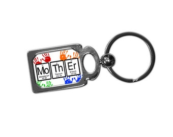 Nerdy Mothers Day Gift Science Chemistry Periodic Table Keychain Key Ring