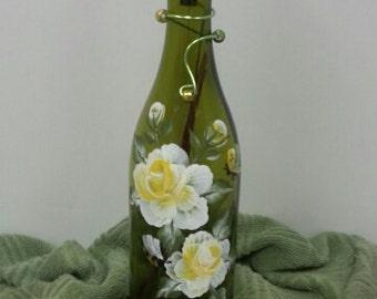 Hand-Painted Glass wine bottle incense burner