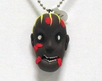 OOAK Handmade Zombie Walking Dead Pendant Necklace 08 Halloween Creepy Scary