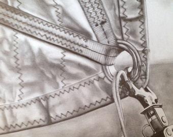 Sail and rigging drawing