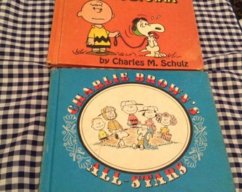 Vintage Charles Schultz Books, 1966 Charlie Brown All Stars, 1968 He's your Dog Charlie Brown